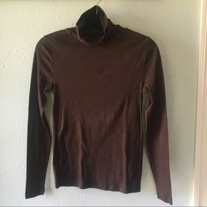 Faded Glory Brown Long Sleeve Turtleneck